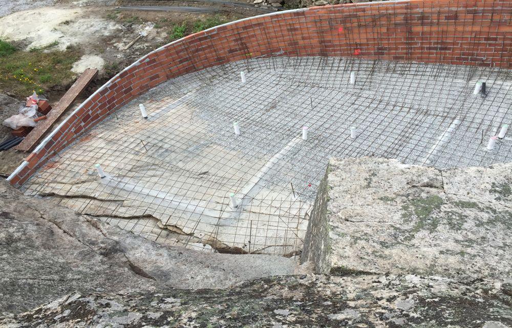 Hormigon construcción piscina