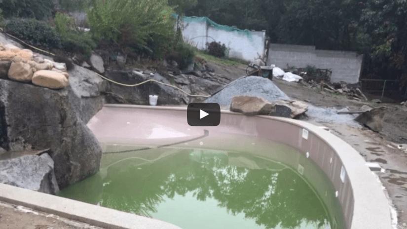 Construcción de una piscina